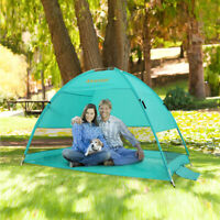 Sun Shade Shelter Beach Umbrella Cabana Pop Up Beach Tent Garden Camping Canopy