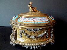 Boxset Box For Jewelry Bronze Golden Signed Tahan PARIS XIX ° Style Renaissance