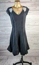 Marithe Francois Girbaud Black Structured Gathered Goth Minimalist Dress XS US 5