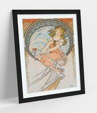 ALPHONSE MUCHA PAINTING WOMEN -ART FRAMED POSTER PICTURE PRINT ARTWORK- WHITE