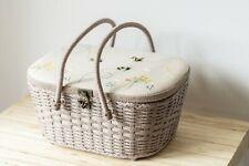 Sewing Box / Basket / Hamper ~ Linen Bee ~ Large ~ HobbyGift ~ Storage
