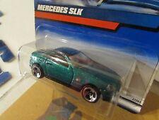 Hot Wheels Mercedes SLK Green (Bent Card)