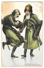 Russian Artist Drawn Costumes PPC,1908 to Silverton, Portswood Rd, Southampton