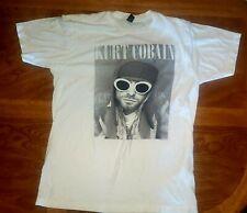 Kurt Cobain Face Nirvana White T-Shirt The End of Music 2018 Size L