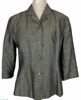 Events Womens Khaki 4 Button Fully Lined Corporate Jacket Size 12