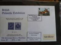 BRITISH PHILATELIC EXHIBITION 29 SEPT 1981  POSTMARK SPECIAL CINDERELLA SHEETLET