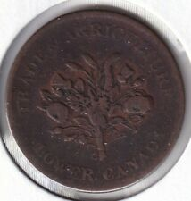 Monix Lower Canada LC-3A5 colonial token un sous bouquet BR714 F-VF CV$9