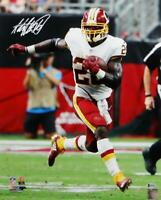 Adrian Peterson Signed Redskins 16x20 Running PF Photo- Beckett W Auth *White