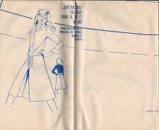 ▬► PATRON Couture Modes et Travaux - Jupe 14 à 18 ans Août 1974