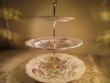 Vintage Royal Doulton Hampshire Pattern 3 Tiered Tidbit Platter Cakestand