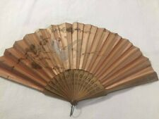 Antique Victorian Hand painted Ladies Fan As Is