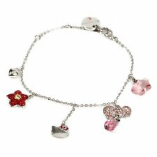 Auth Swarovsuki braclet  of  Hello  Kitty  and flower