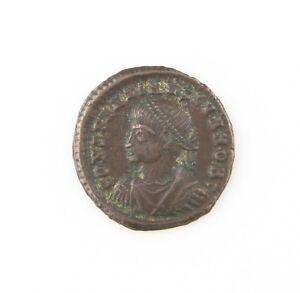 337-340 AD Roman AE3 Coin XF Constantine II Camp Gate Cyzicus Silver Wash RIC#20