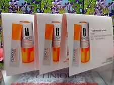 ♡ NEW ♡(3PCS)Clinique Fresh Pressed(Sample Carded)System With Pure Vitamin C