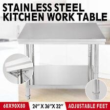 90 x 60 cm küchen Arbeitstisch Silber Arbeitstisch Edelstahl Küche Bar