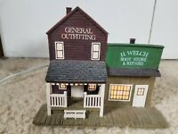 2008 Hawthorne Village Outfitting And Boot Shop Lighted Wild West Village A0560
