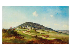 Frederick Zeller - View of Aremberg in the Ahr Hills