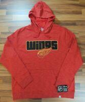 New Detroit Red Wings NHL Hockey Hoodie Men's Sweatshirt - Majestic Size XL NWT