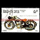 CZ 500 1938 - LAO LAOS : Timbre Poste Moto Collection Stempel Stamp