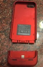 Mophie iphone 5 Phone Case And Charger Metallic Dark Red