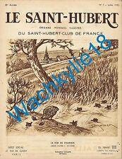 Le Saint-Hubert 07/1935 Chasse Poules d'eau Cynologie
