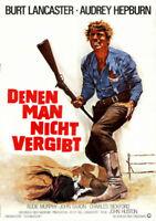 Denen man nicht vergibt ORIGINAL A1 Kinoplakat Burt Lancaster / Audrey Hepburn