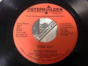 Ernie Johnson Narc Man W/ Picture Sleeve Soul Vinyl 45 Single Piranha Records