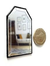 Dolls House 1/12 scale Black Wall Mirror Lovingly Made by BUSHBABY