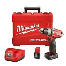 "Milwaukee 2403-22 M12 FUEL 12V 1/2"" Inch DRILL DRIVER KIT CLEARANCE!!!"