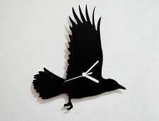 Crow Flying Silhouette - Wall Clock