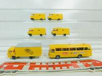BO528-0,5# 6x Wiking H0/1:87 Post-Modell: LKW Magirus + Bus/Transporter Mercedes