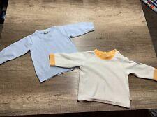 2 Stück Pullover Gr.62 Baby Hellblau /weiß