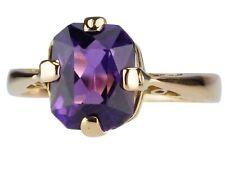 Art Deco 18 K 750 Rose Gold 2,1 ct Fabelhafter Amethyst Solitär Damen Ring !