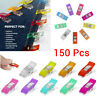150PCS Mixed Colour Wonder Clips Craft Quilting Fabric Keep in Place No Damage