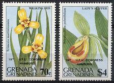Grenadines Of Grenada 1984 SG#606-7 Flowers Optd UPU Congress MNH Set #A89306