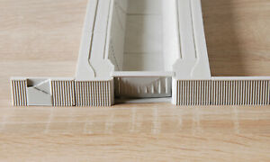 Quay Dock sheet pile wall 1/700 scale for Dry Dock