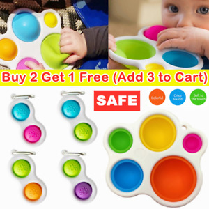 Baby Simple Dimple Sensory Toys--Silicone Flipping Board Brain Teasers Gift NEW