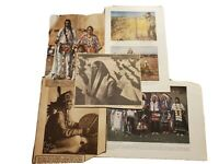 1930s Vintage Photos newspaper clippings brochures Native American Sioux Indians