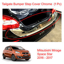 Tailgate Bumper Step Guard Cover Chrome For Mitsubishi Space Star Mirage 16 - 17