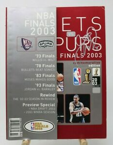 Jason Kidd Autograph 2003 NBA Finals Nets vs Spurs Commemorative Edition Program