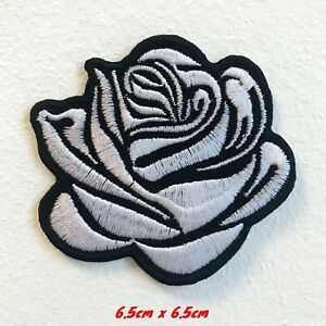Lovely White Rose Lady Clothing Jacket Shirt Iron on Embroidered Patch#1741W