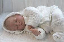PRETTY Fine Delicate Knit Baby Doll Outfit For Reborn or Newborn Infant Baby