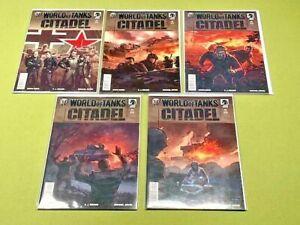 2018 Dark Horse World of Tanks Citadel #1-5 Complete Comic Series