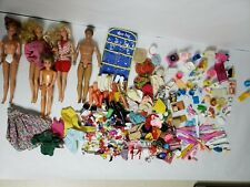 VTG 3 Barbies Ken & Kens Little Brother Taiwan & Indonesia W/Lots of Accessories