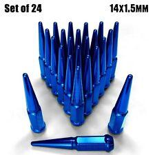 (24) Blue Spike Lug Nuts 14x1.5 fit GM K1500 Trucks Sierra Silverado 1500 6BL1