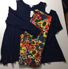 New Lularoe TC2 Floral Leggins & NWT Dress Barn 2x Long Sleeve Matching Top