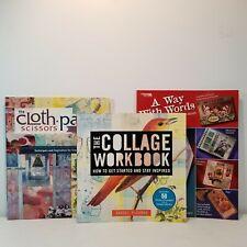 Creative Art Journal Technique Books Cloth Paper Scissors Collage Mixed Media