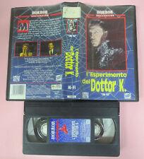 VHS film L'ESPERIMENTO DEL DOTTOR K. The fly HORROR COLLECTION 1992(F161) no dvd