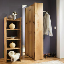 Winkel-Garderobe Garderoben-Set 4-tlg Massiv-Holz Flurgarderobe mit Flur-Spiegel