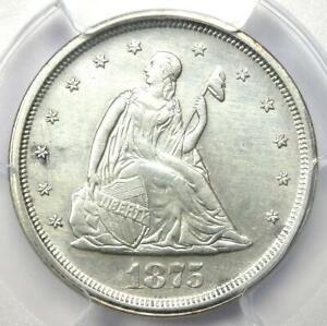 1875-S Twenty Cent Coin 20C - Certified PCGS AU Detail - Rare Type Coin!